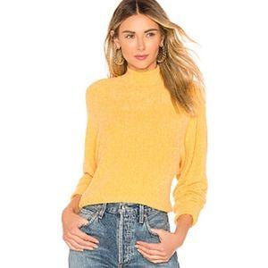 NWT lovers + Friends yellow yeva sweater
